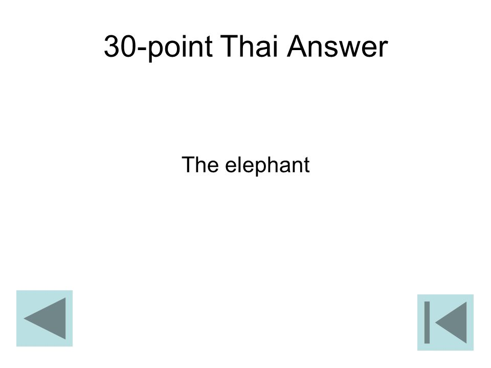 30-point Thai Answer The elephant