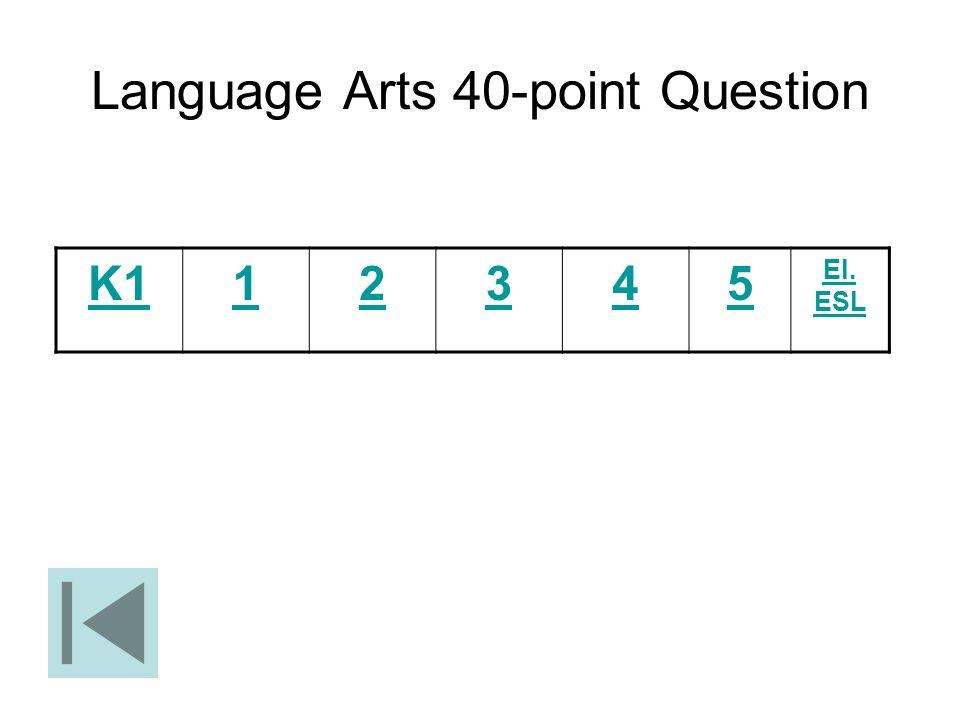 Language Arts 40-point Question
