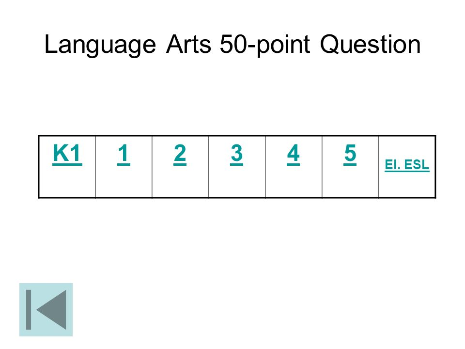 Language Arts 50-point Question