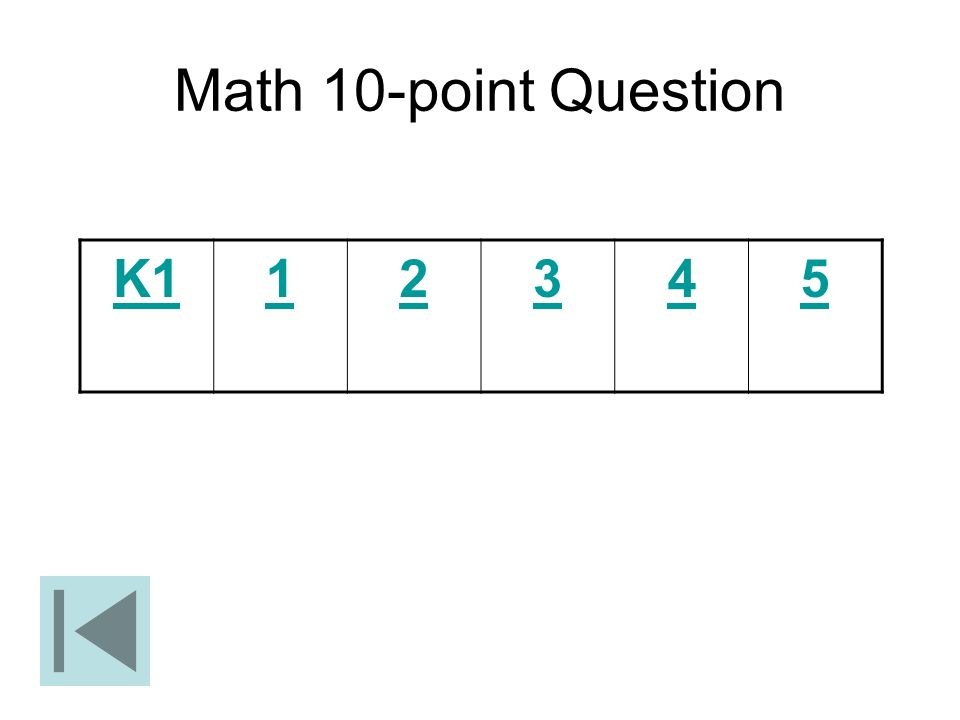Math 10-point Question K