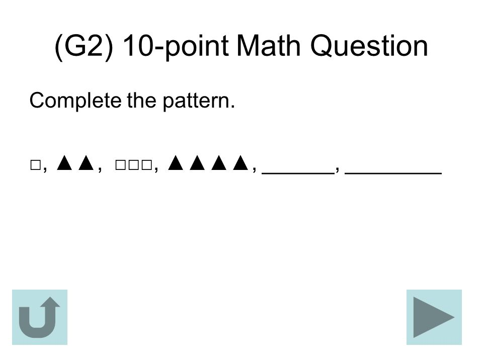 (G2) 10-point Math Question