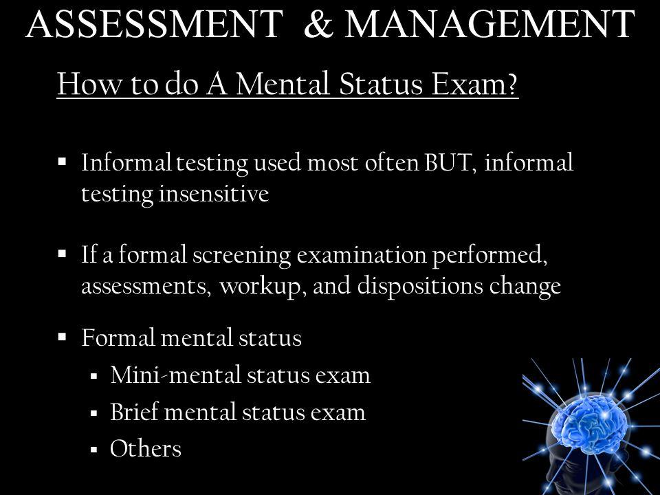 How to do A Mental Status Exam