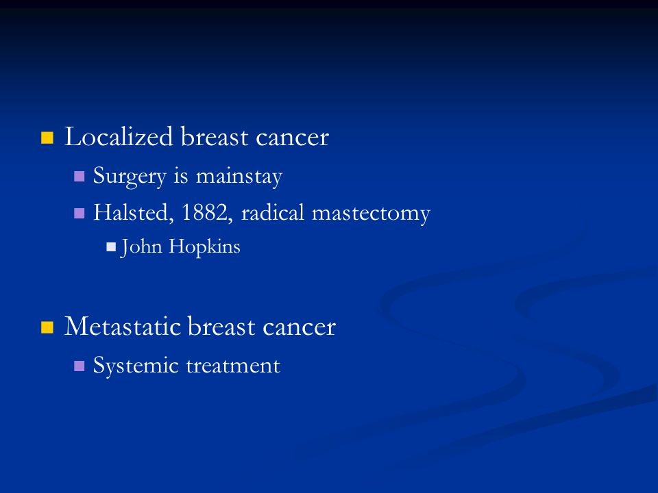 Localized breast cancer
