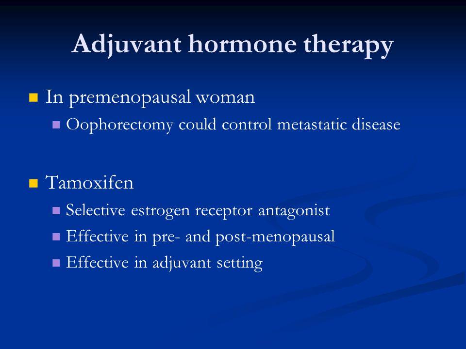 Adjuvant hormone therapy