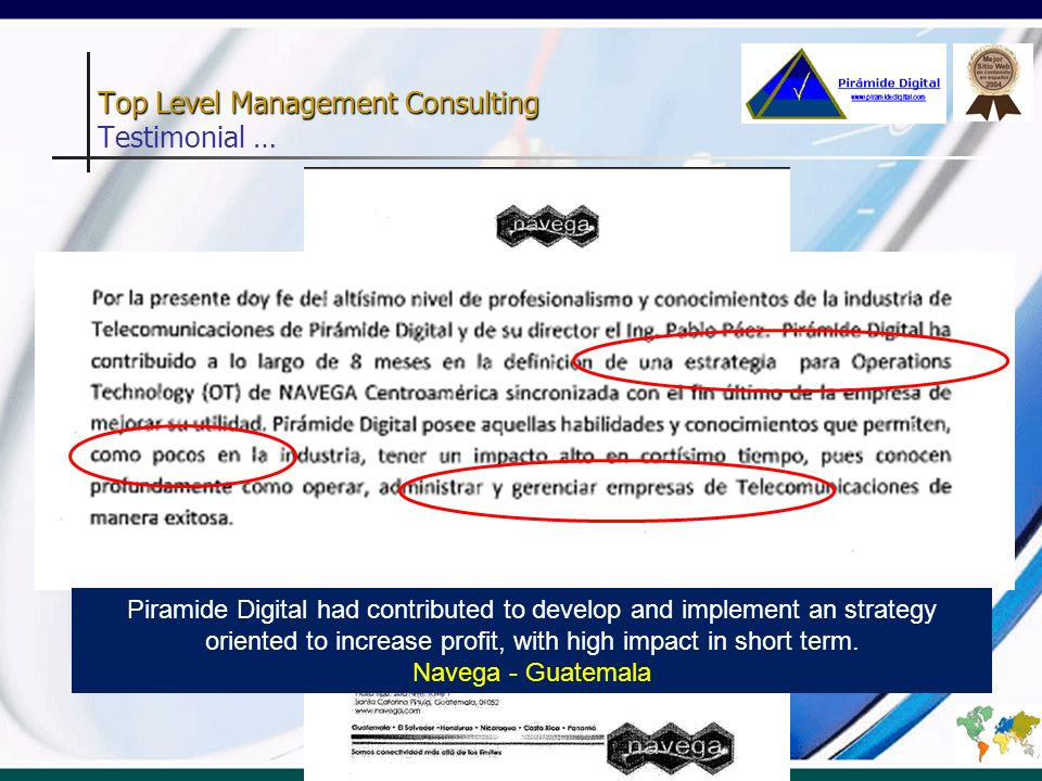 Top Level Management Consulting Testimonial …