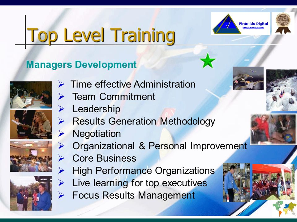 Top Level Training Managers Development Time effective Administration