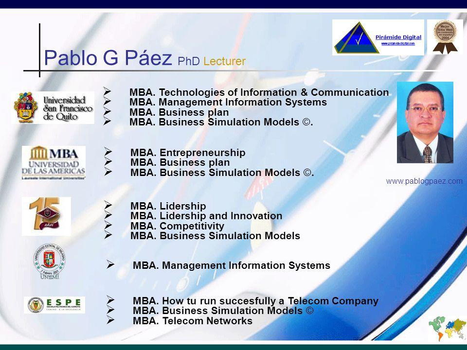 Pablo G Páez PhD Lecturer