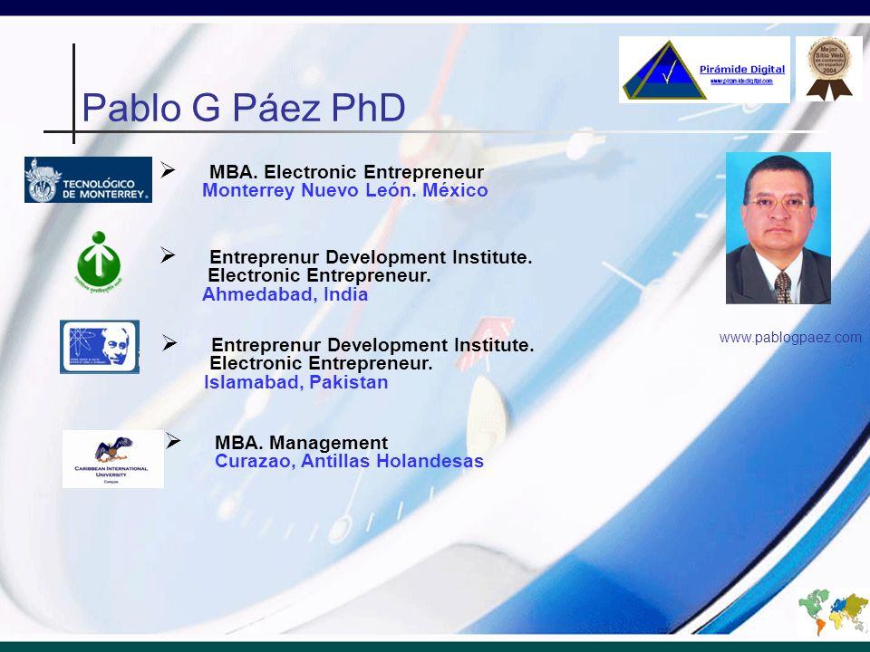 Pablo G Páez PhD MBA. Electronic Entrepreneur