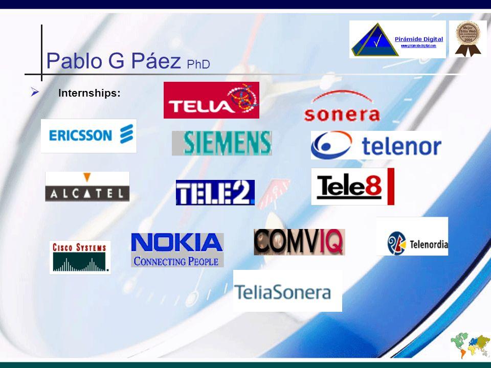 Pablo G Páez PhD Internships: