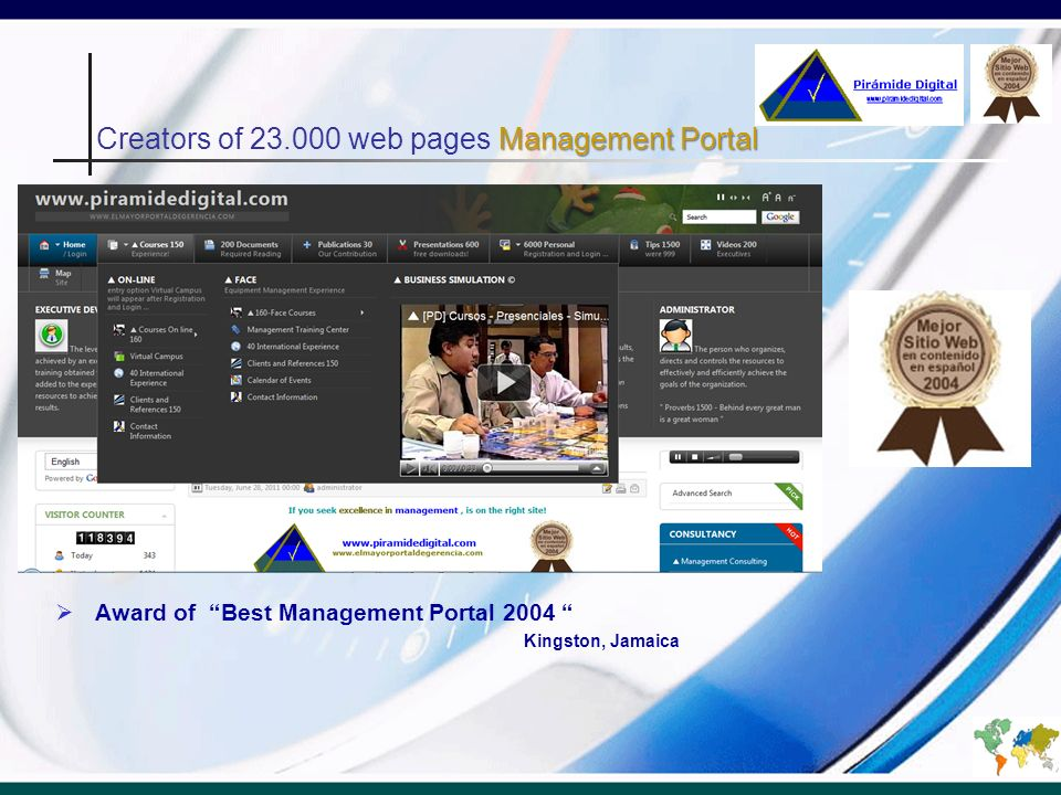Creators of 23.000 web pages Management Portal