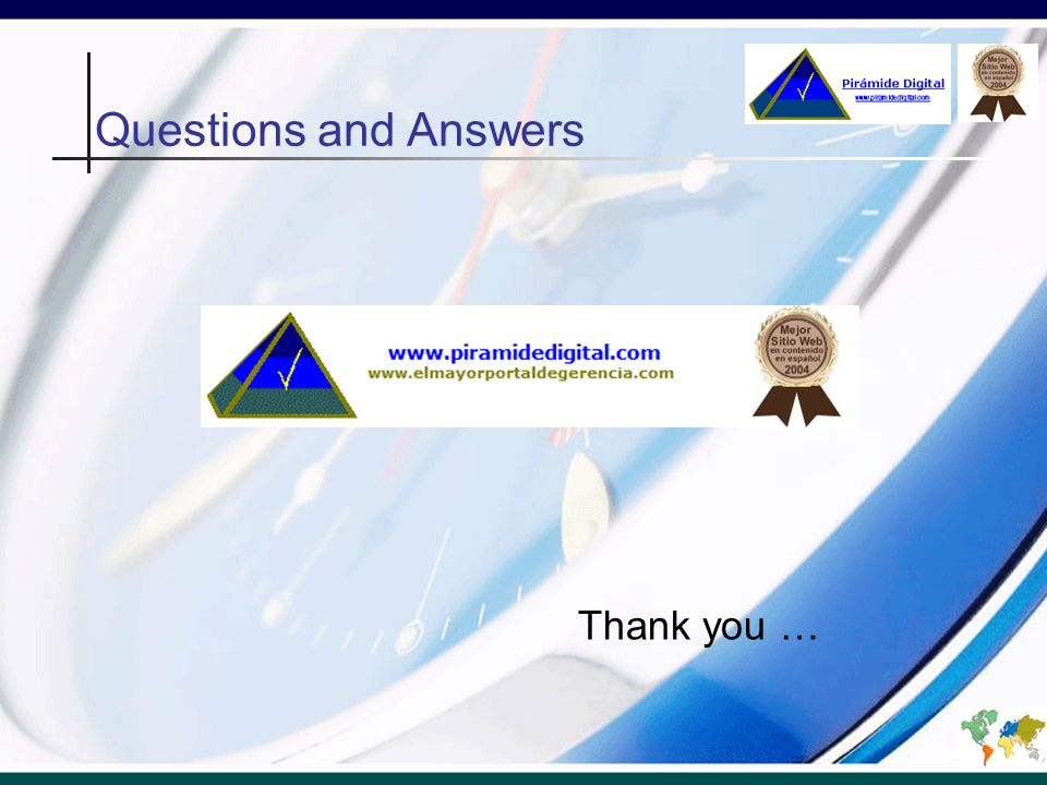 Questions and Answers Thank you …