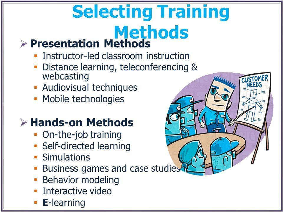 Selecting Training Methods