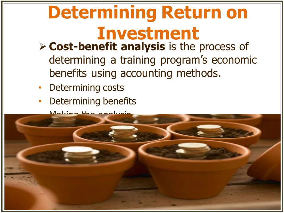 Determining Return on Investment