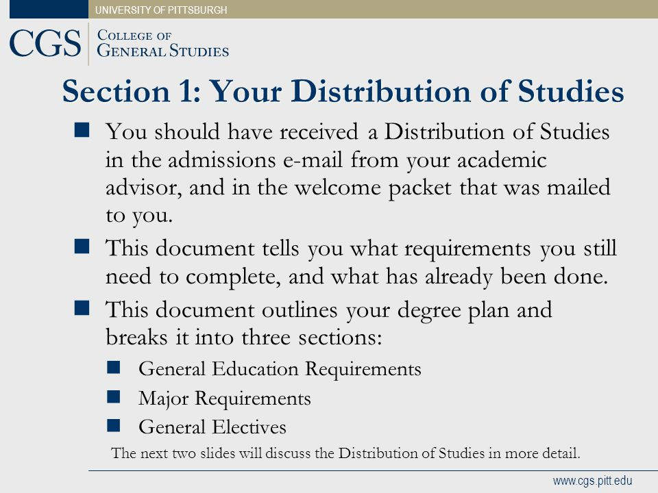 Section 1: Your Distribution of Studies