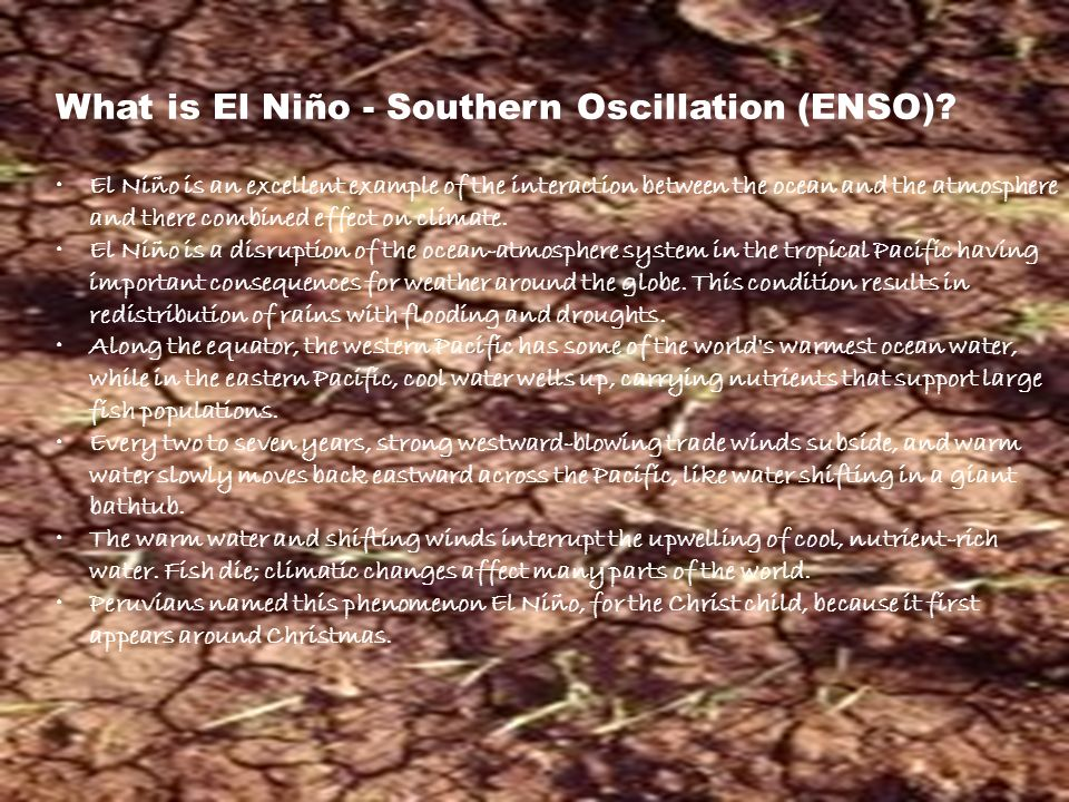 What is El Niño - Southern Oscillation (ENSO)