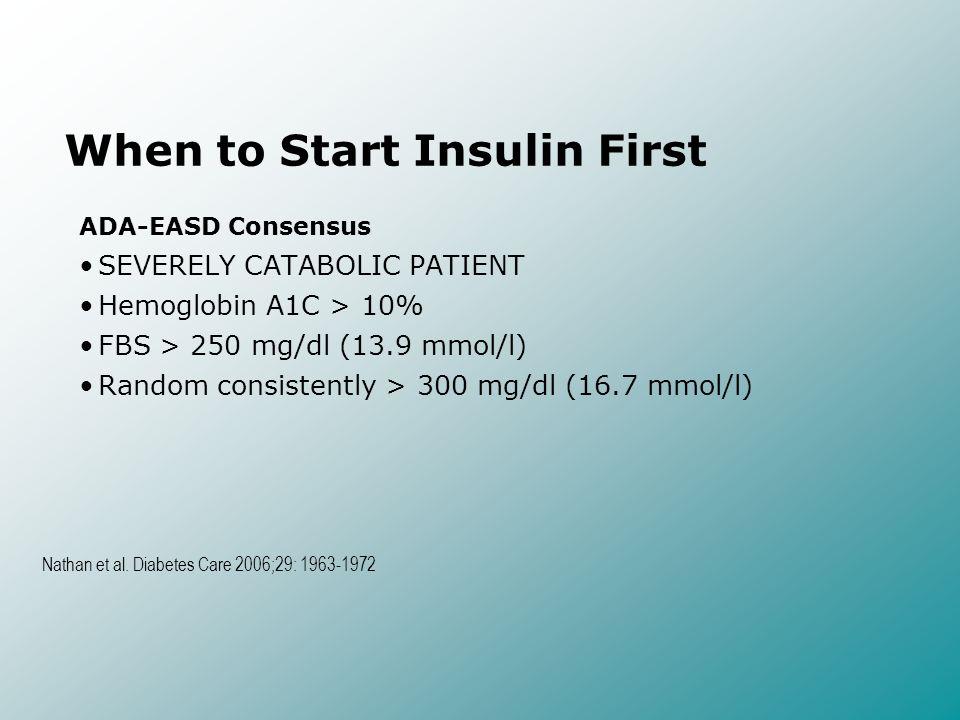 When to Start Insulin First