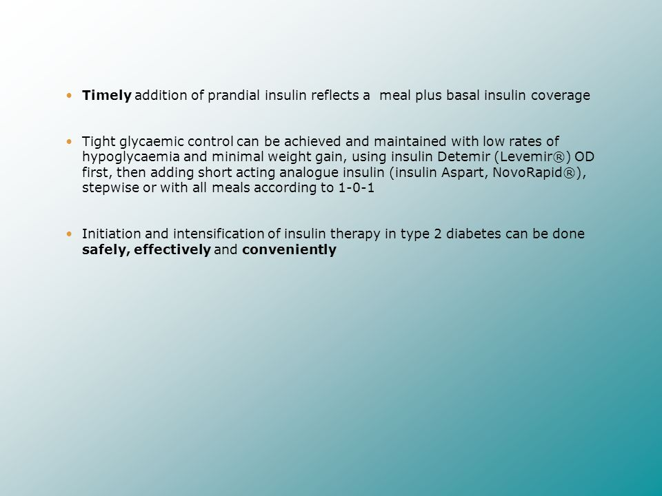 Timely addition of prandial insulin reflects a meal plus basal insulin coverage