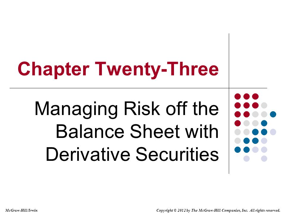 hedging risks with derivative securities essay