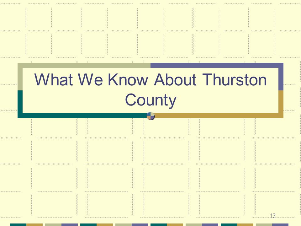 What We Know About Thurston County