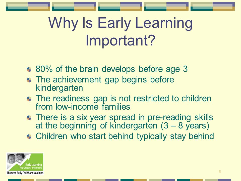 Why Is Early Learning Important