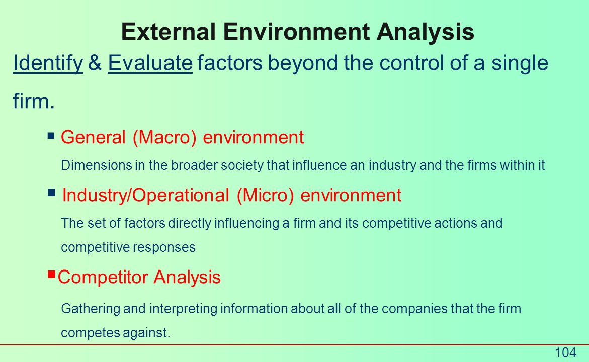 External Environment Analysis