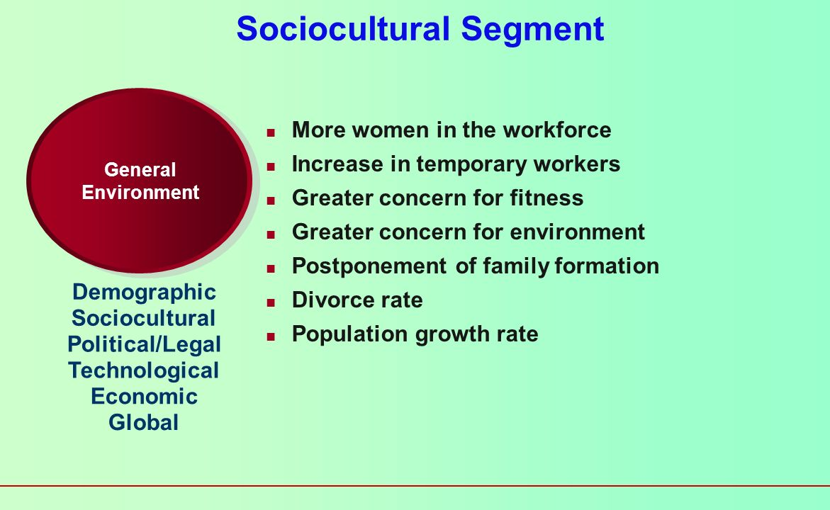 Sociocultural Segment