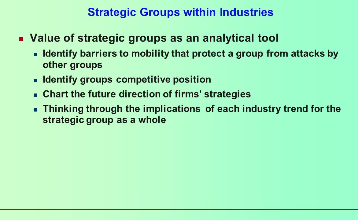 Strategic Groups within Industries