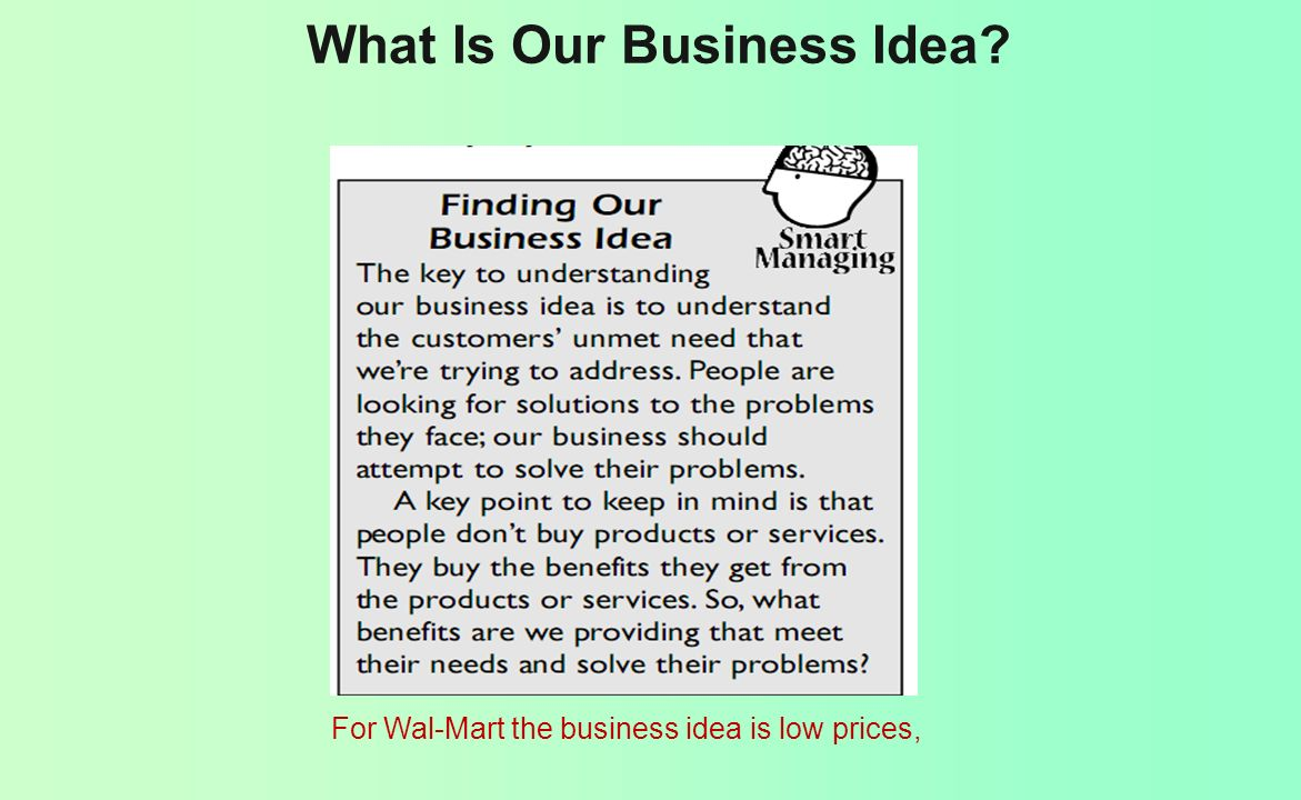 What Is Our Business Idea