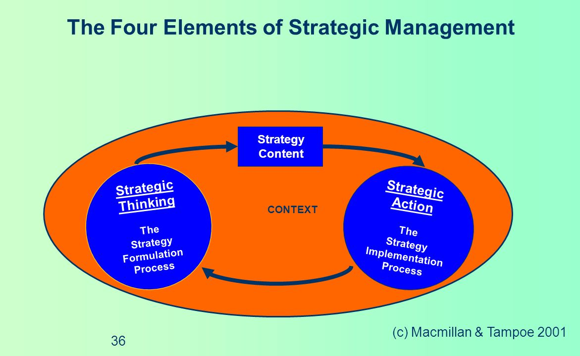 The Four Elements of Strategic Management
