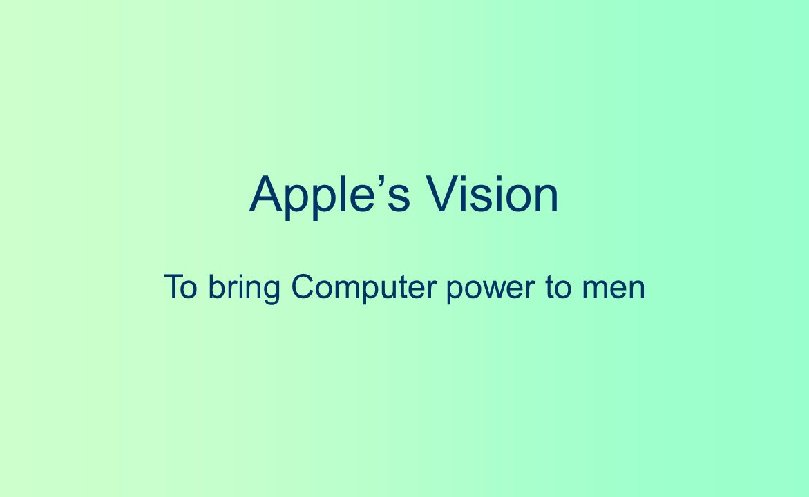 To bring Computer power to men