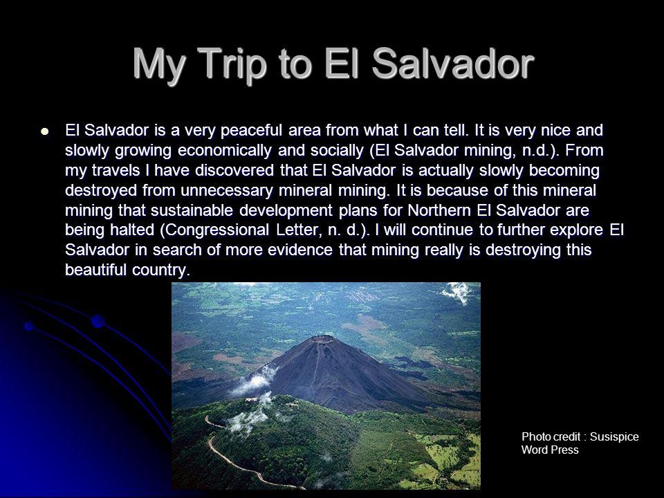 My Trip to El Salvador