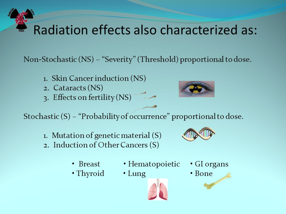 Radiation effects also characterized as: