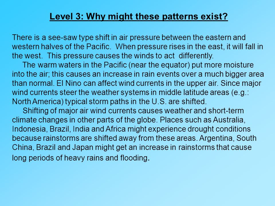 Level 3: Why might these patterns exist