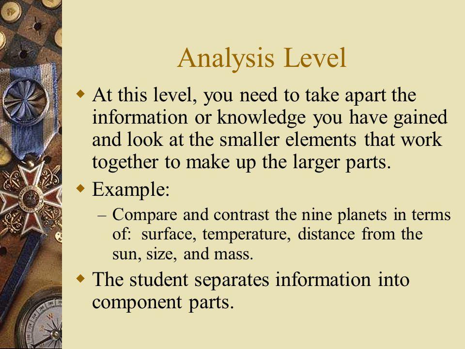 Analysis Level