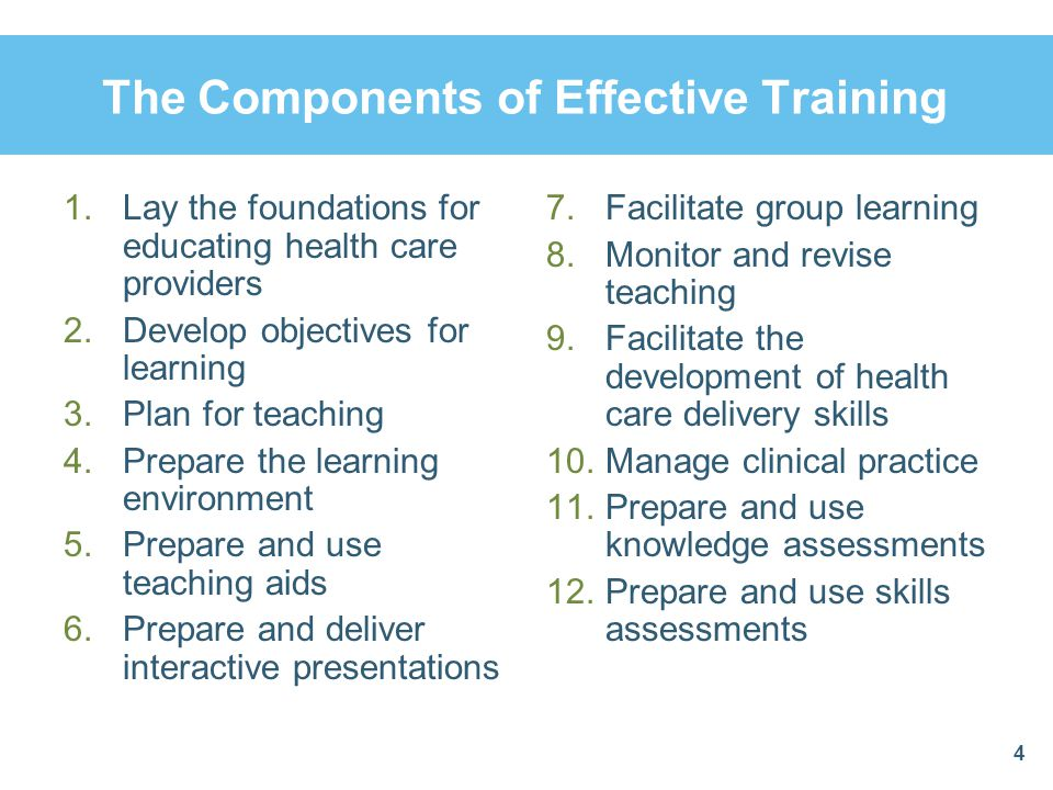 The Components of Effective Training