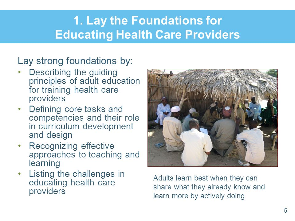 1. Lay the Foundations for Educating Health Care Providers