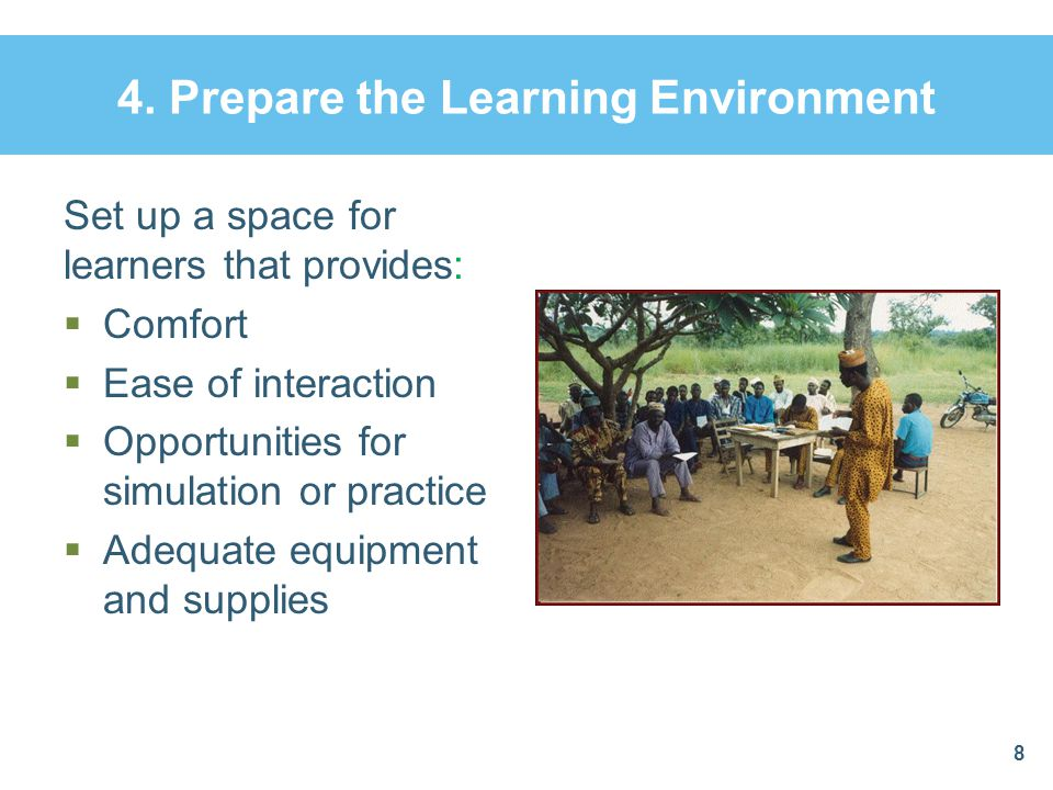 4. Prepare the Learning Environment