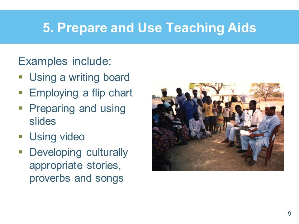 5. Prepare and Use Teaching Aids