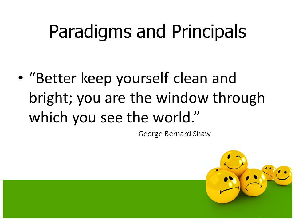 Paradigms and Principals