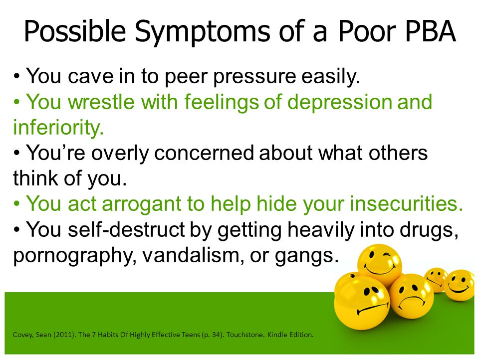 Possible Symptoms of a Poor PBA