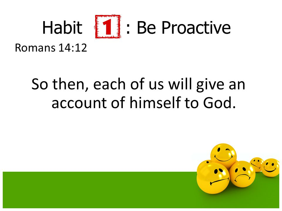 So then, each of us will give an account of himself to God.