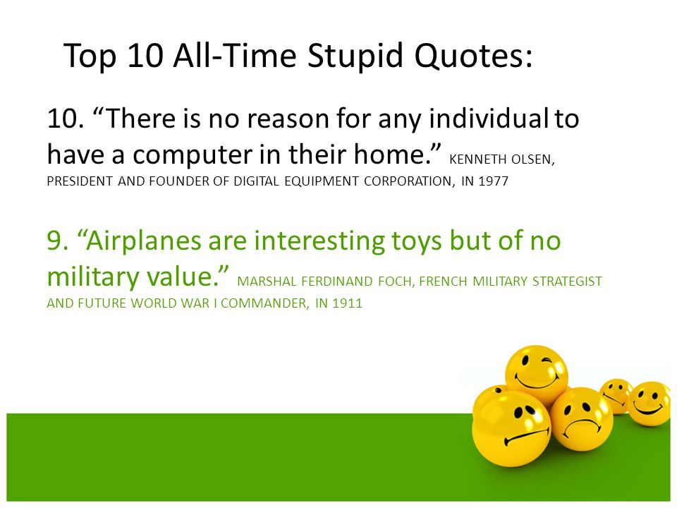 Top 10 All-Time Stupid Quotes:
