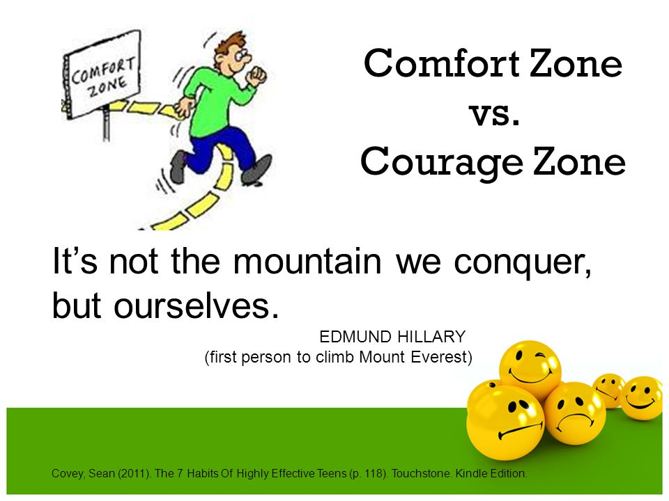 Comfort Zone vs. Courage Zone