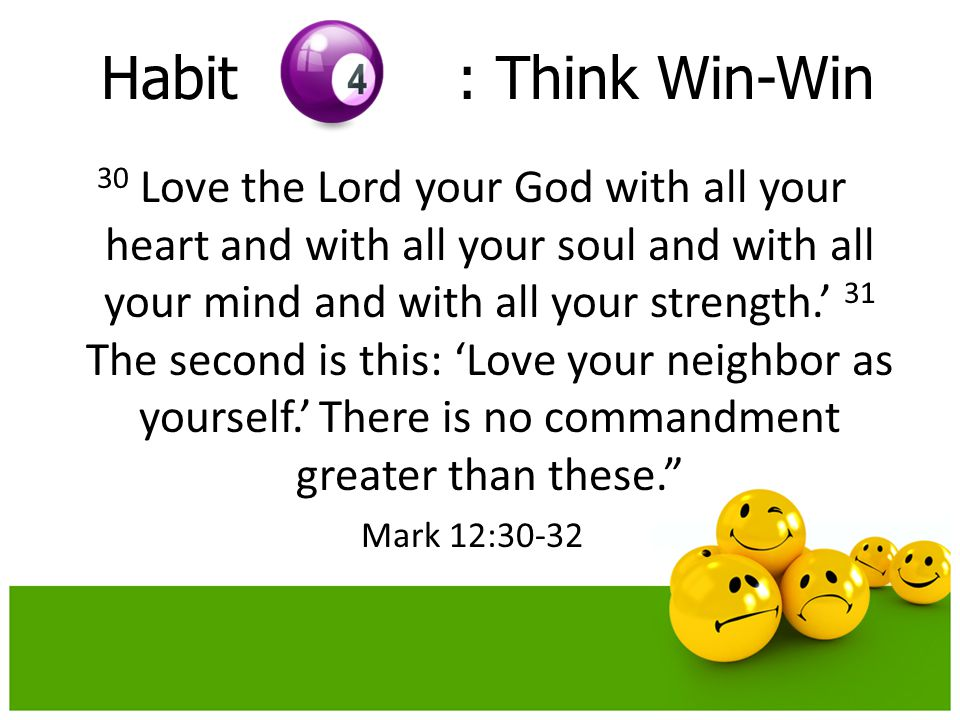 Habit : Think Win-Win