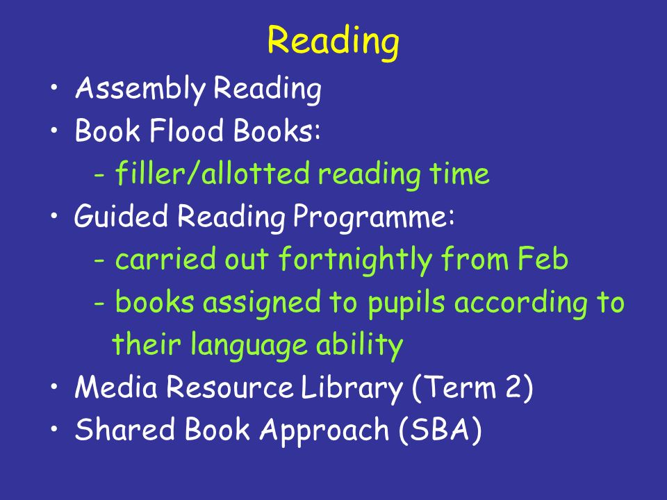 Reading Assembly Reading Book Flood Books: