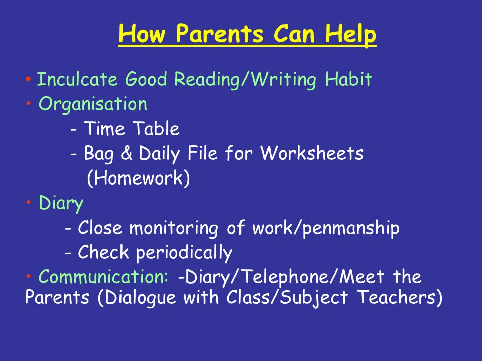 How Parents Can Help Inculcate Good Reading/Writing Habit Organisation