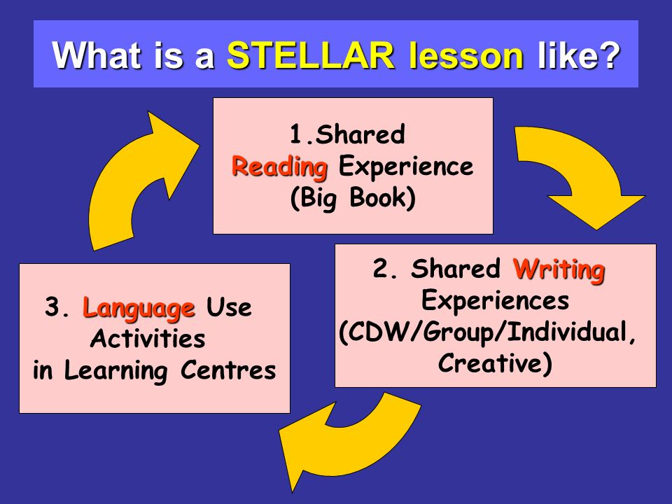 What is a STELLAR lesson like