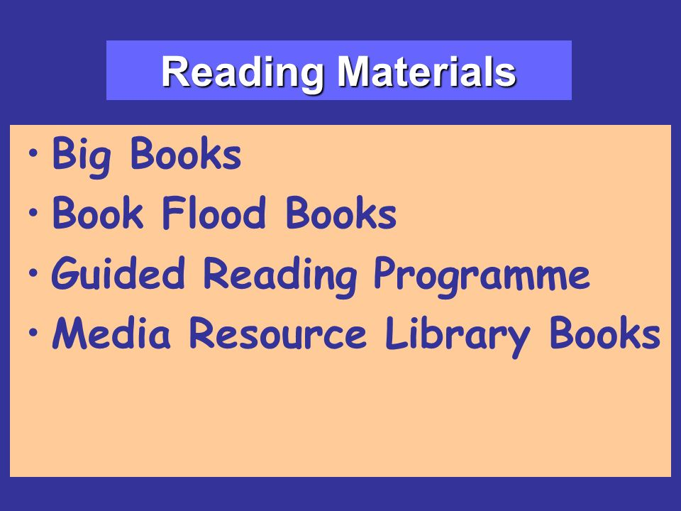 Reading Materials Big Books Book Flood Books Guided Reading Programme Media Resource Library Books