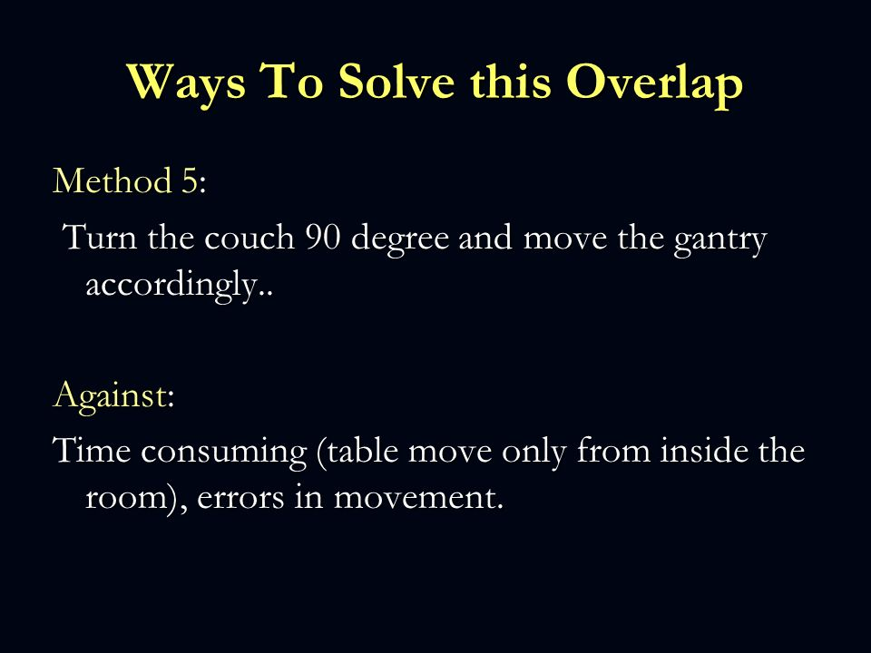 Ways To Solve this Overlap