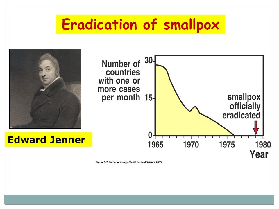 Eradication of smallpox